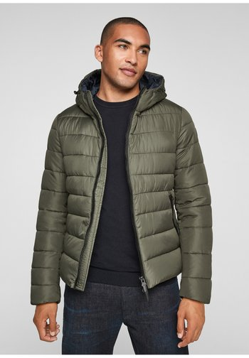 MATELASSÉE CHAUDE À CAPUCHE - Winter jacket - olive