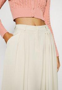 NA-KD - PLEATED MIDI SKIRT - A-line skirt - beige - 5