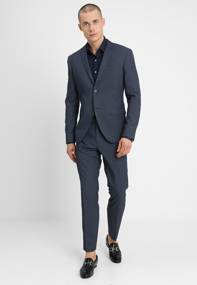 FASHION STRUCTURE SUIT SLIM FIT - Traje - blue