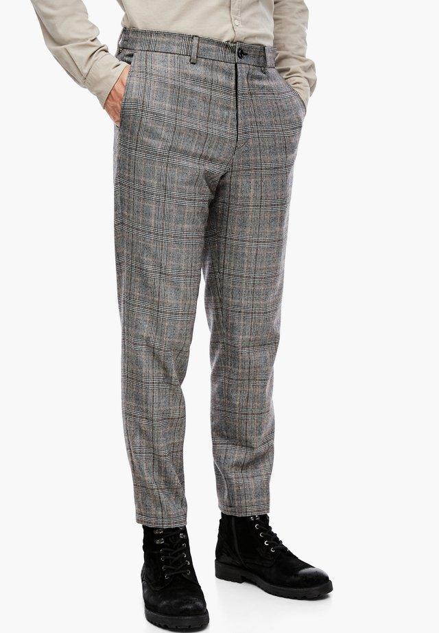 Pantalon de costume - brown glencheck