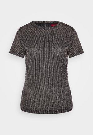 DINOA - T-shirt con stampa - black