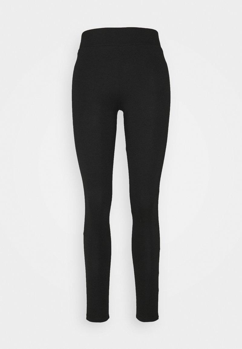 Wallis - BLACK PONTE PULL ON - Leggings - Trousers - black