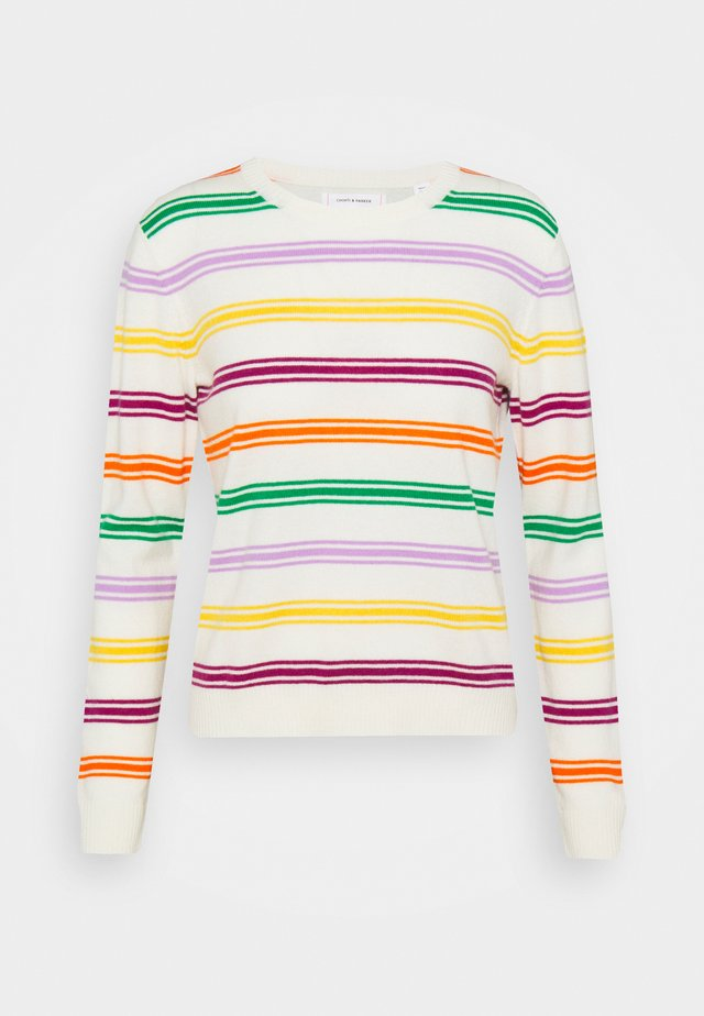 STRIPED - Neule - cream/multi