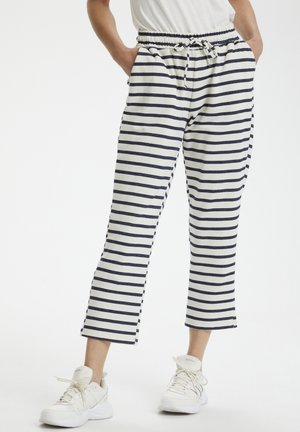 Tracksuit bottoms - total eclipse snow white strip