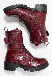 TWINSET - Cowboy- / bikerstøvlette - dark red - 3