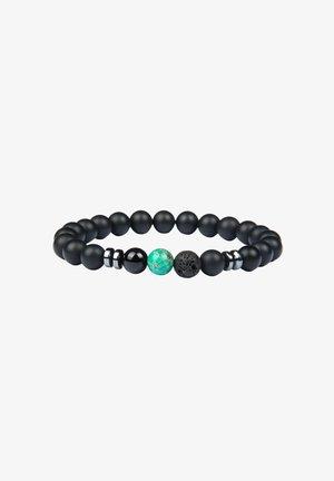 Bracciale - schwarz+grün marmor
