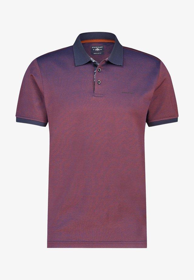 Poloshirt - red/blue