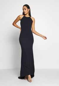 WAL G. - HIGH NECK MAXI WITH TRAIL - Suknia balowa - navy blue