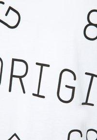 G-Star - BACKPRINT LOOSE V NECK - T-shirt print - white - 2