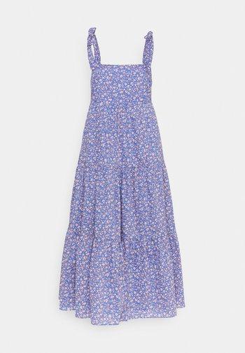 TIE STRAP - Kjole - summer vines blue
