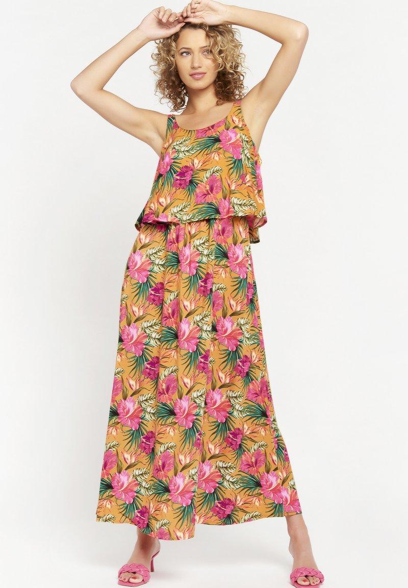 LolaLiza - TROPICAL - Maxi dress - yellow