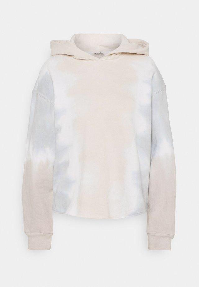 CUTOFF WASH POPOVER  - Bluza z kapturem - grisaile sleet/white