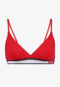 COLOR BLOCK BRA - Triangle bra - tango red