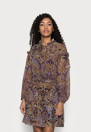 OBJMARCIN SHORT DRESS - Kjole - black/ethnic multi