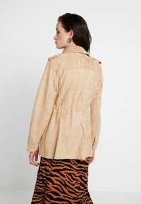 River Island - ARMY JACKET - Faux leather jacket - sand - 2