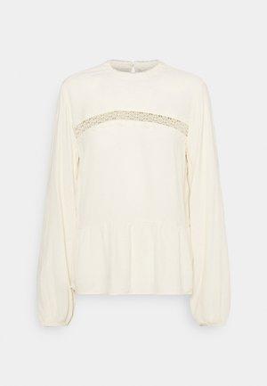 PEPLUM BLOUSE - Bluser - soft creme beige