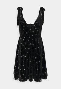 Missguided - PRINT TIE STRAP DRESS - Kjole - black - 0