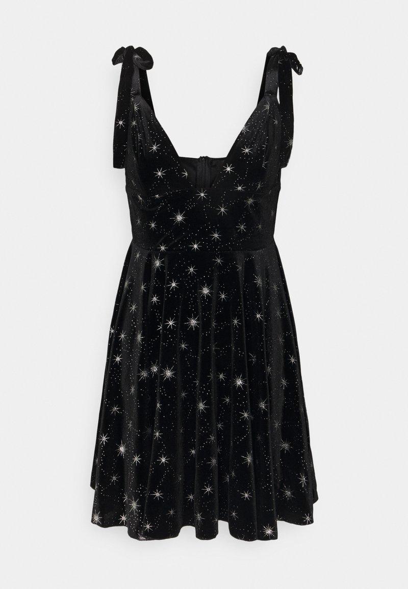 Missguided - PRINT TIE STRAP DRESS - Kjole - black