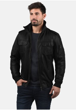 FAMASH - Leather jacket - black