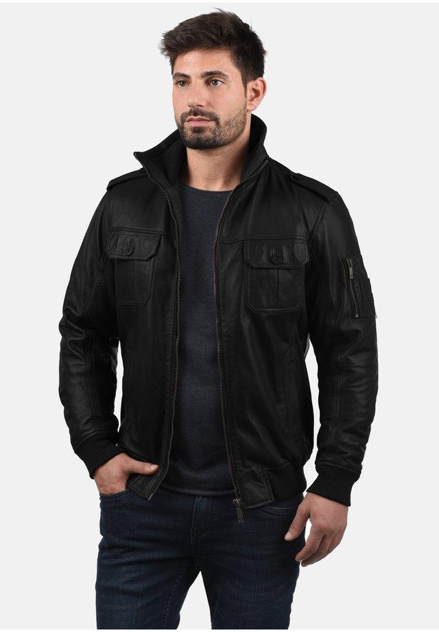 FAMASH - Leather jacket - black