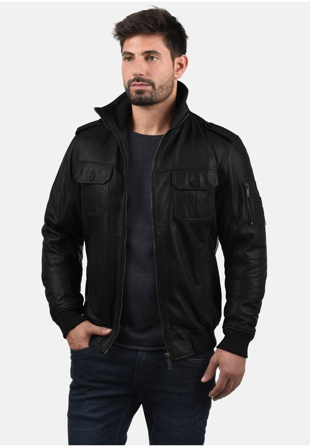 FAMASH - Veste en cuir - black