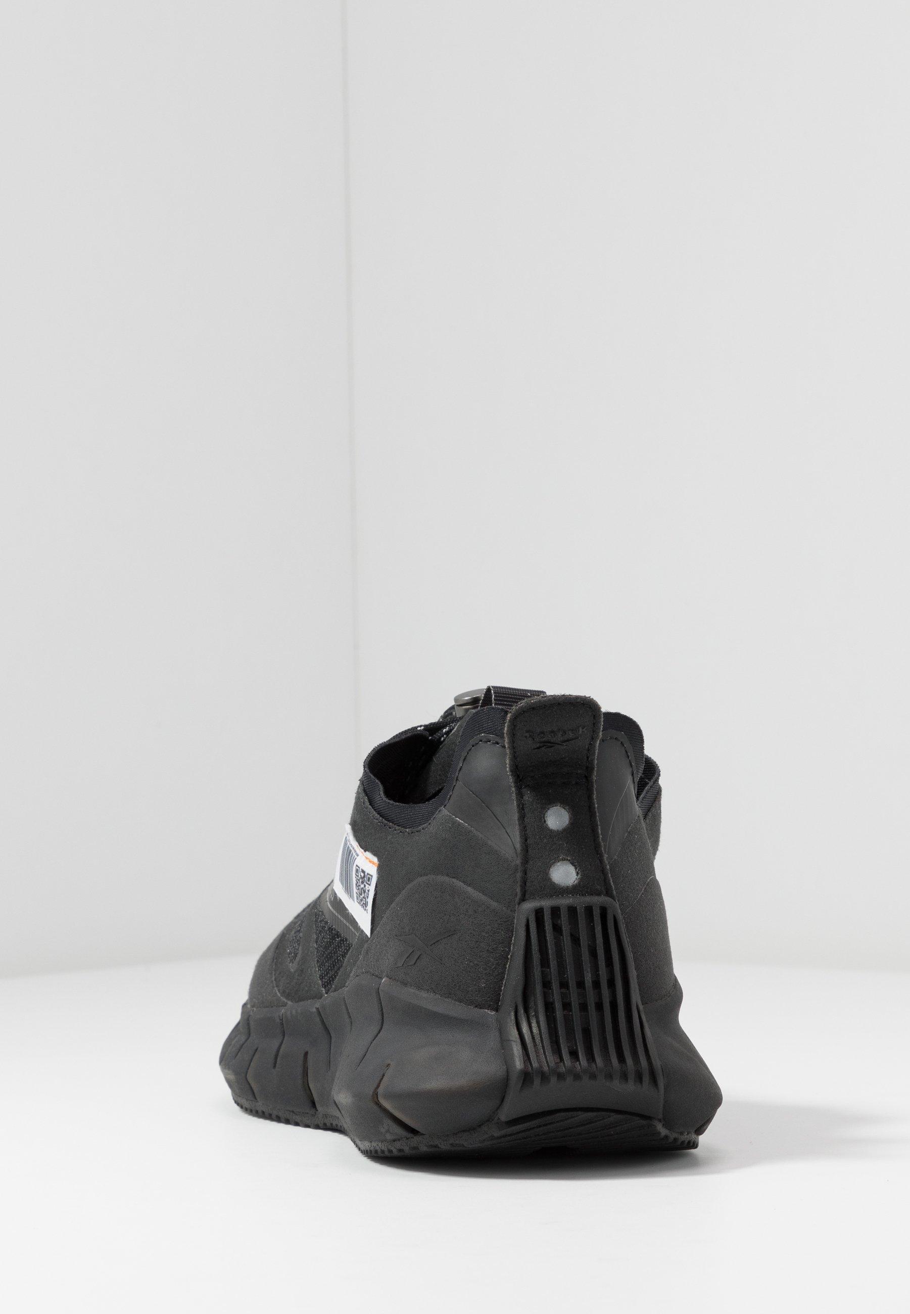 Reebok Classic ZIG KINETICA HORIZON - Joggesko - black/trace grey/high vis orange