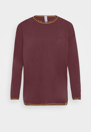 LANGARM MORNING STRETCHING - Pyjama top - aubergine