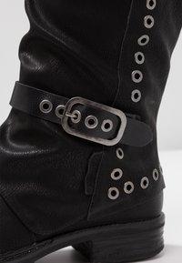 Coolway - GISELE - Kowbojki i obuwie motocyklowe - black - 2