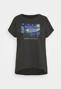 Even&Odd Curvy - T-shirts med print - black/blue/white - 4