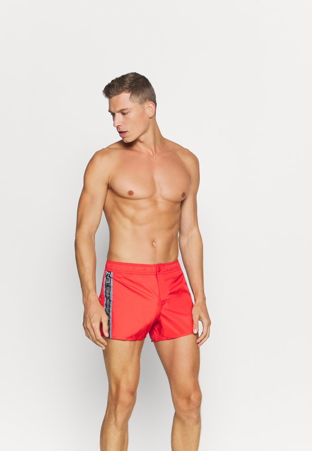SEA WORLD LOGO TAPE - Swimming shorts - fiamma