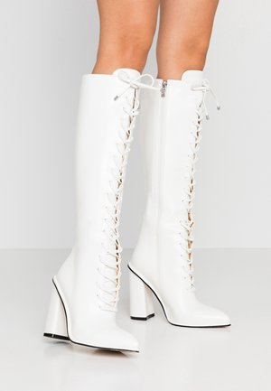 JESSIE - High heeled boots - white