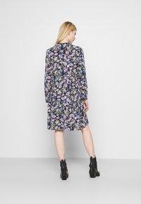 JDY - JDYPIPER  - Skjortekjole - black iris/purple/parisian blue - 2