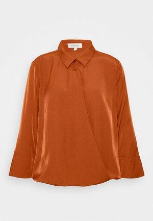 BLOUSE WRAP  - Button-down blouse - baked ginger orange