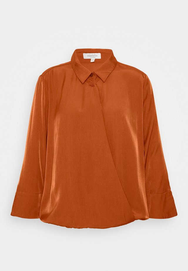 BLOUSE WRAP  - Skjortebluser - baked ginger orange