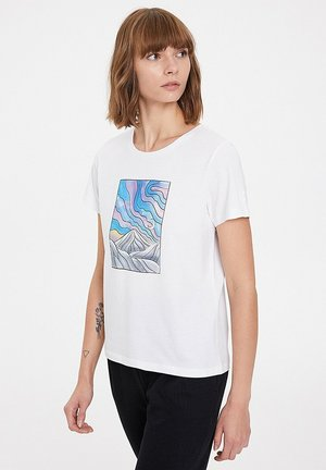 NIGHT - Print T-shirt - white
