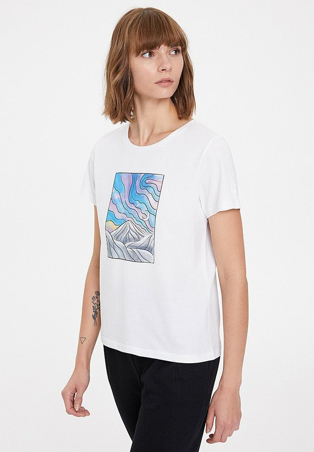 NIGHT - T-shirt print - white