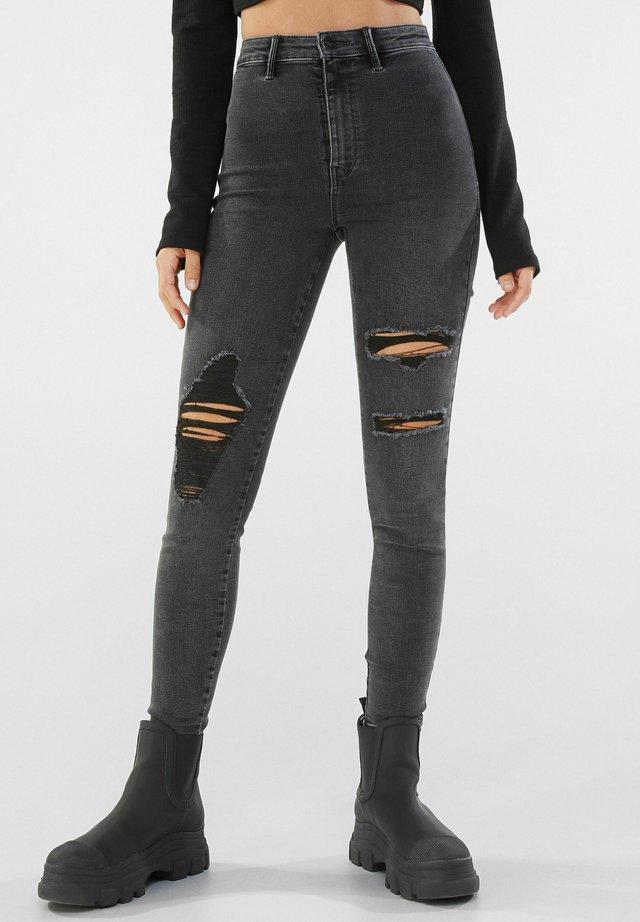 MIT RISSEN  - Jeans Skinny - dark grey
