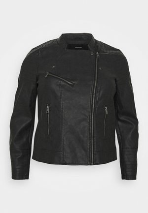 VMBEATY SHORT JACKET - Faux leather jacket - black