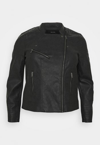 VMBEATY SHORT JACKET - Faux leather jacket - black
