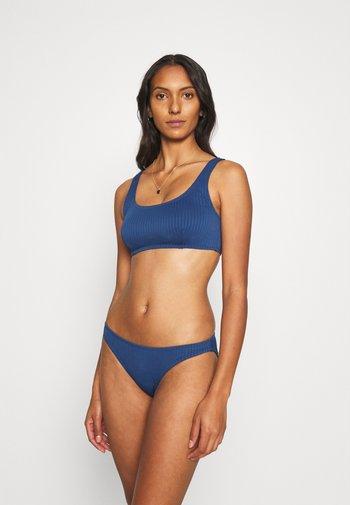 SQUARE NECK CROP FULL BOTTOM - Bikini - marina blue