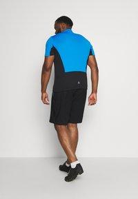 LÖFFLER - BIKE SHORTS COMFORT 2-IN-1 - Sports shorts - black/brilliant blue - 2