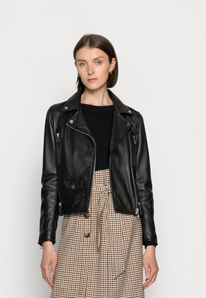 MAY - Leather jacket - black