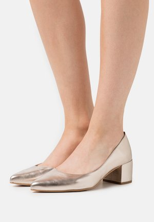 LEATHER - Pumps - rose gold-coloured