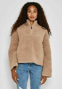 Noisy May - ANORAK - Fleece jacket - beige - 0