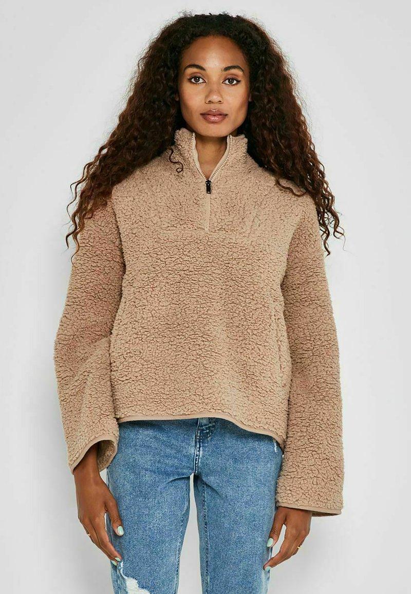 Noisy May - ANORAK - Fleece jacket - beige