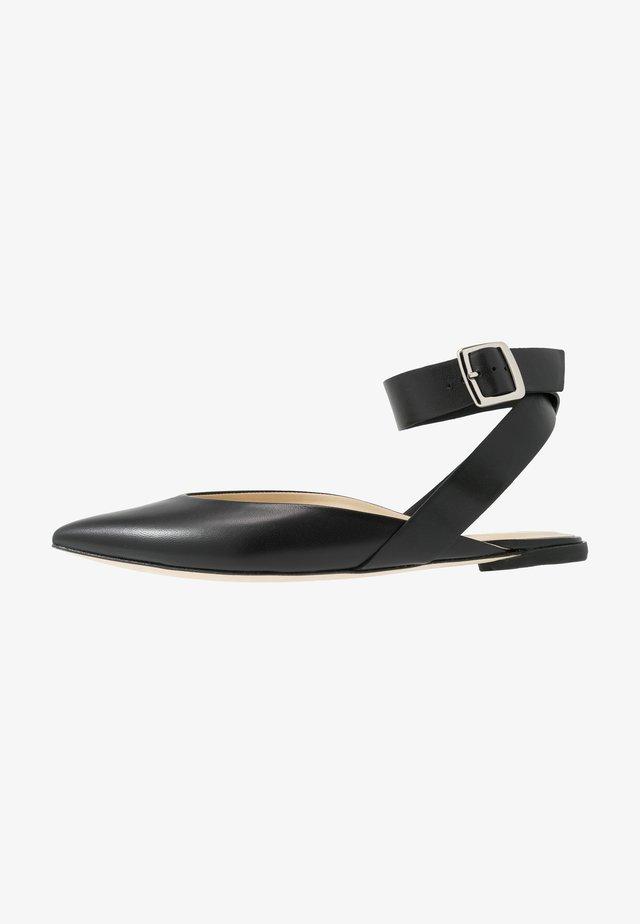 NINON - Slingback ballet pumps - noir