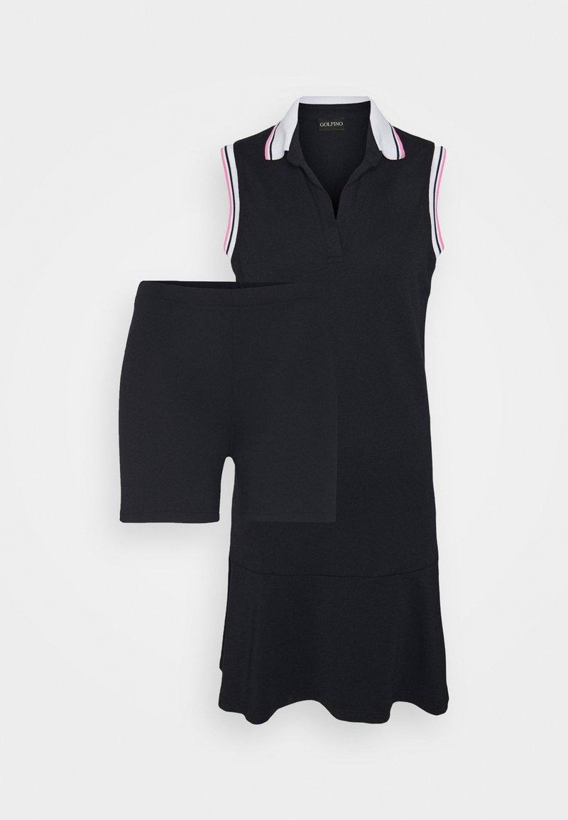 Golfino - DANCING ARGYLES SLEEVELESS DRESS - Sports dress - navy