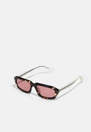 RECYCLED UNISEX - Sunglasses - shiny havana/black/bordeaux