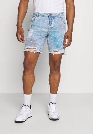 PABLOSPRAY - Shorts di jeans - light blue