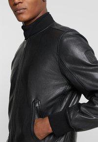 Strellson - CAMDEN - Leather jacket - black - 5
